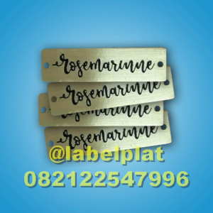 Label Hijab, Label Plat, Label Besi, Label Logam, Plat Nama