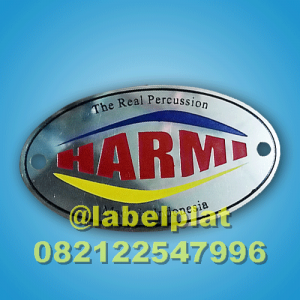 PLAT LABEL LOGAM